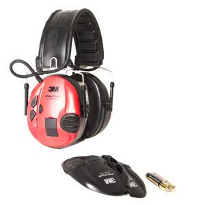3M Peltor SportTac Shooting chrániče sluchu, červeno čierne