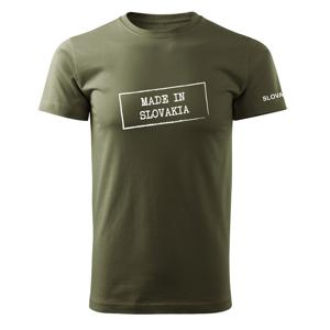 WARAGOD krátke tričko made in slovakia, olivová 160g/m2