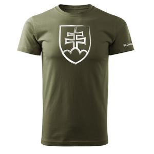 WARAGOD krátke tričko slovenský znak, olivová 160g/m2