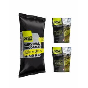 Adventure Menu Survival Food pack menu II, Bravčové s knedľou a kapustou a Pikantný kotlík s bulgurom, 810g