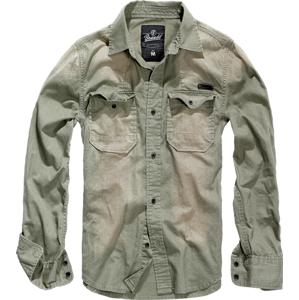 Brandit Hardee košeľa s dlhým rukávom, olivová