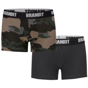 Brandit pánske boxerky set 2ks, darkcamo-čierne