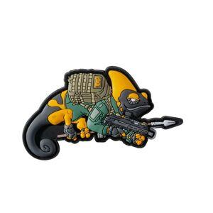 Helikon-Tex 3D PVC Chameleon Patrol line exclusive nášivka, žlto/zelená