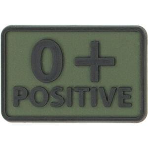 Helikon-Tex 3D PVC nášivka 0+ Positive, set 2ks olive green