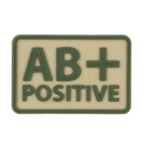 Helikon-Tex 3D PVC nášivka AB+ Positive, set 2ks khaki