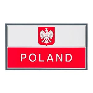 Helikon-Tex nášivka 3D Poľsko 9x5cm červená