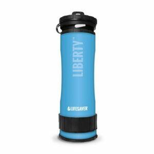 Lifesaver filtračná a čistiaca fľaša na vodu, 400ml, modrá