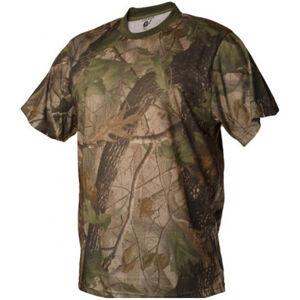 Loshan Sidney tričko, vzor Real tree hnedé