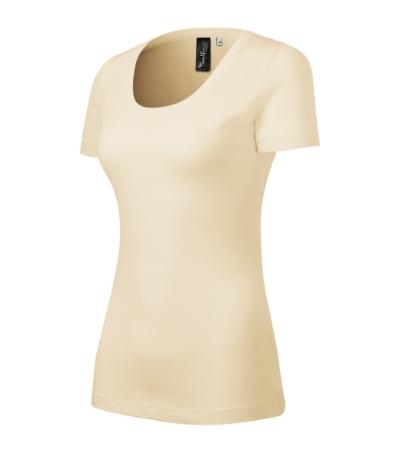 Malfini Merino Rise dámske krátke tričko, mandľové