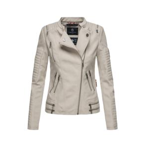 Marikoo Akikoo dámska kožená bunda, sivá