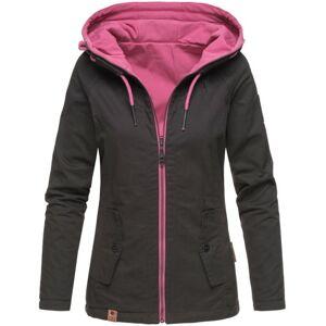 Marikoo CHUU Dámska prechodná obojstranná Softshell bunda 2v1, čierna