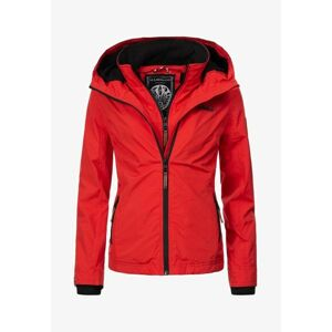 Marikoo ERDBEERE Dámska prechodná bunda s kapucňou, červená