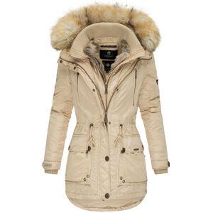 Marikoo Grinsekatze dámska zimná bunda s kapucňou, béžová