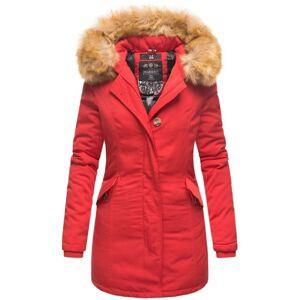Marikoo Karmaa dámska zimná bunda s kapucňou, červená