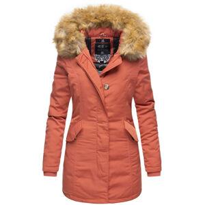 Marikoo Karmaa dámska zimná bunda s kapucňou, dark coral