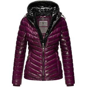 Marikoo LENNJAA dámska zimná bunda s dvoma kapucňami, aubergine čierna