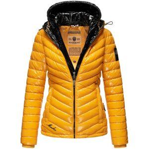 Marikoo LENNJAA dámska zimná bunda s dvoma kapucňami, žlto čierna