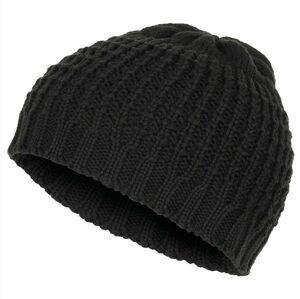 MFH Beanie čiapka pletená krátka, čierna
