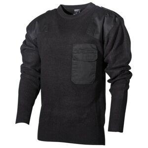 MFH BW sveter s náprsným vreckom, čierny