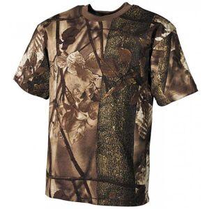 MFH tričko real tree vzor hunter-braun, 170g/m²