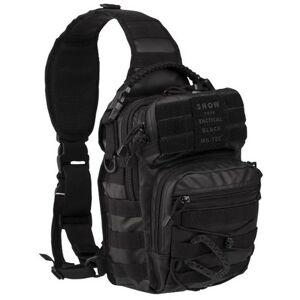 Mil-tec Tactical batoh jednopopruhový, čierny 10L