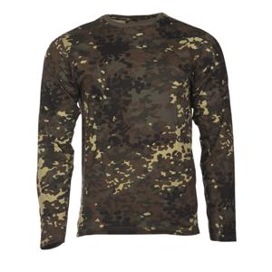 Mil-tec bavlnené tričko s dlhým rukávom, flecktarn