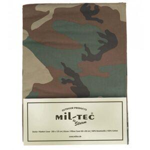 Mil-Tec maskáčové posteľné obliečky pre 1 lôžko, woodland