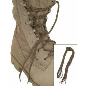 Mil-Tec Co šnúrky do topánok, coyote 80cm