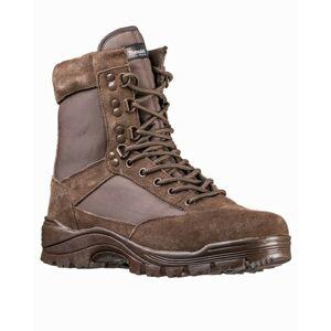 Mil-Tec taktická obuv na zips, hnedá