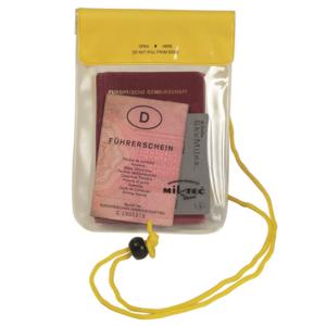 Mil-tec vodotesné púzdro na krk, žlté 130x200mm