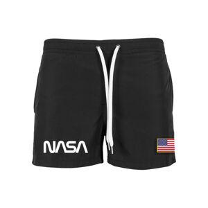 NASA pánske plavky WORM logo, čierne
