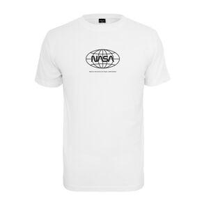NASA pánske tričko Globe, biele