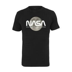 NASA pánske tričko Moon, čierne