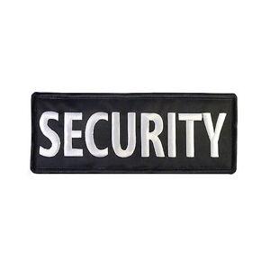 Nášivka security malá, čierna, 10 x 4cm