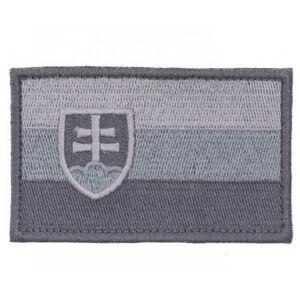 Nášivka Slovenská vlajka, sivá 8x5cm