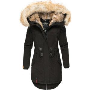 Navahoo Bombii dámska zimná bunda s kožušinou, čierna