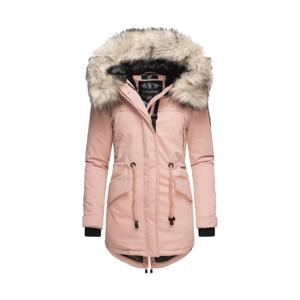 Navahoo LadyLike dámska zimná bunda s kapucňou a kožušinou, rose