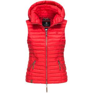 Navahoo SHADAA Dámska vesta s kapucňou, červená