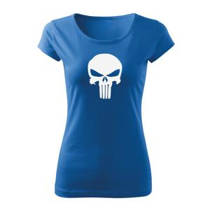 WARAGOD dámske krátke tričko punisher, modrá 150g/m2