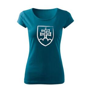 WARAGOD dámske tričko slovenský znak, petrol blue 150g/m2