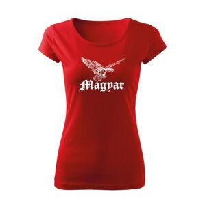 WARAGOD dámske tričko vták turul, červená 150g/m2