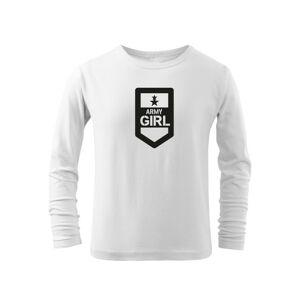WARAGOD Detské dlhé tričko Army girl, biela