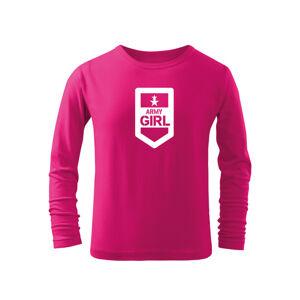 WARAGOD Detské dlhé tričko Army girl, ružová