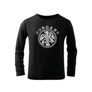 WARAGOD Detské dlhé tričko Hungary, čierna
