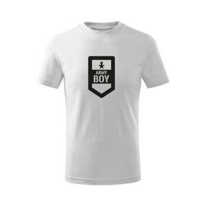 WARAGOD Detské krátke tričko Army boy, biela