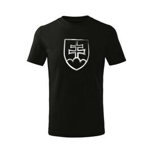 WARAGOD Detské krátke tričko Slovenský znak, čierna