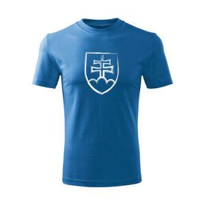 WARAGOD Detské krátke tričko Slovenský znak, modrá