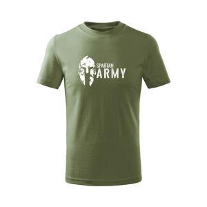 WARAGOD Detské krátke tričko Spartan army, olivová