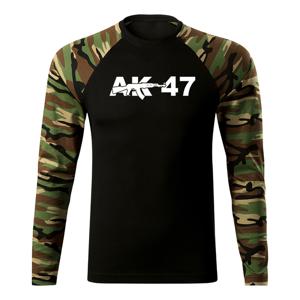 WARAGOD Fit-T tričko s dlhým rukávom ak47, woodland 160g/m2