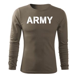 WARAGOD Fit-T tričko s dlhým rukávom army, olivová 160g/m2